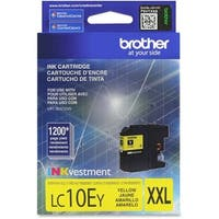 Brother LC10EY Brother LC-10EY Ink Cartridge - Yellow - Inkjet - Super High Yield - 1200 Page - OEM