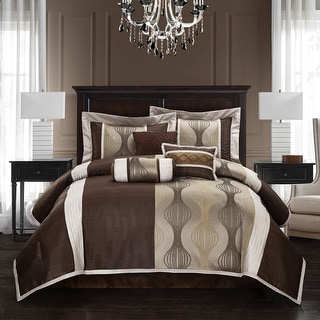 Link to Grand Avenue Daniella 7-piece Modern Geometric Comforter Set Similar Items in Comforter Sets