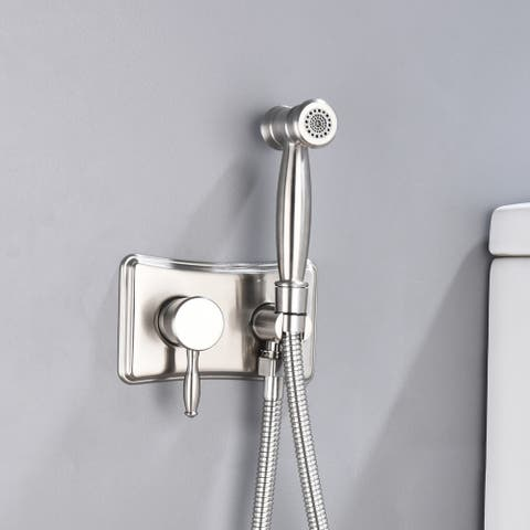 Stainless Steel Handheld Hot and Cold Water Brushed Bidet Sprayer Set