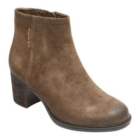 Rockport Women's Cobb Hill Natashya Ankle Boot Caribou Suede