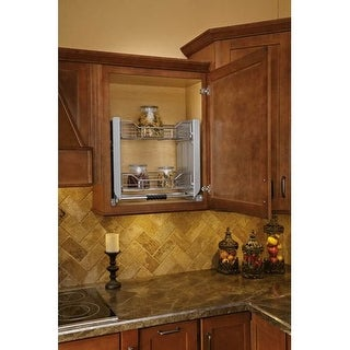 Rev-A-Shelf 5PD-24CRN 5PD Series 22-1/2 Inch Wide Upper Cabinet Pull Down Shelving System