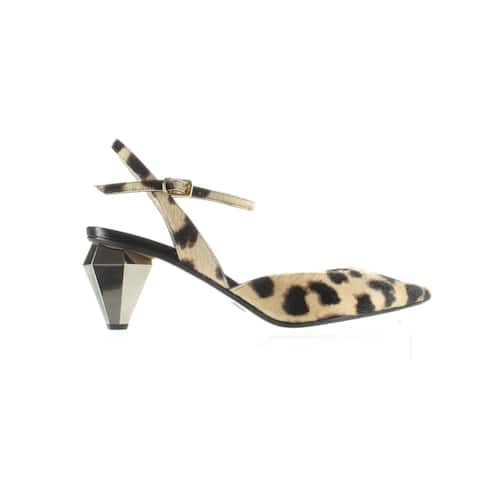Marc Jacobs Womens The Slingback Camel Multi Ankle Strap Heels Size 6.5