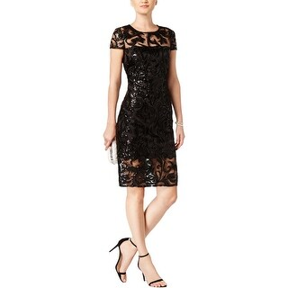 Vince Camuto Womens Cocktail Dress Sequined Mini