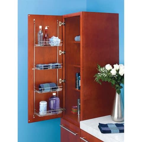 Rev-A-Shelf 5CLR46-52 5CLR Series Door Mount Linen Rack for Bathroom or Vanity -