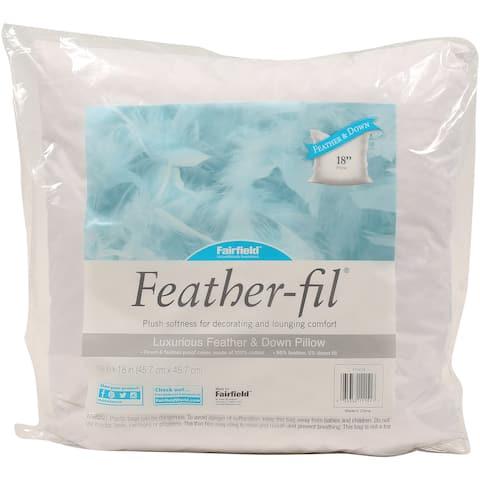 "Fairfield Feather-Fil Feather & Down Pillow Insert-18""X18"" Fob: Mi"