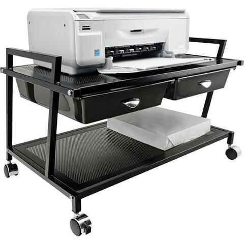 Vertiflex Underdesk Machine Stand with Drawers - Black
