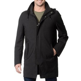 Nautica Men's Hooded Grey Raincoat