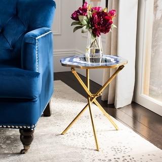 "Safavieh Celeste Faux Agate Side Table - 15.5"" x 15.5"" x 18.5"""
