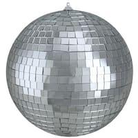 "Shiny Silver Splendor Mirrored Glass Disco Ball Christmas Ornament 8"" (200mm)"