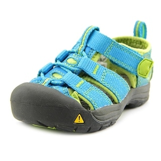 Keen Newport H2 Toddler Round Toe Leather Blue Fisherman Sandal