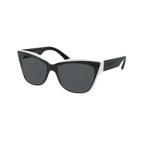 Prada PR 23XS YC45S0 53 Black/white Woman Cat Eye Sunglasses
