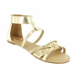 Red Circle Footwear 'Deluna' Ankle Strap Sandal (Option: Padded)