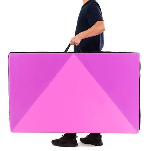 """4"""" x 10"""" x 2"""" Gymnastics Mat Folding Portable Exercise Aerobics Fitness"""