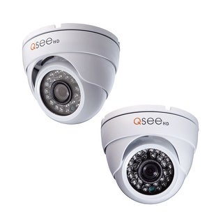 Q-See 2 Pack HD 720p Dome Security Cameras - White