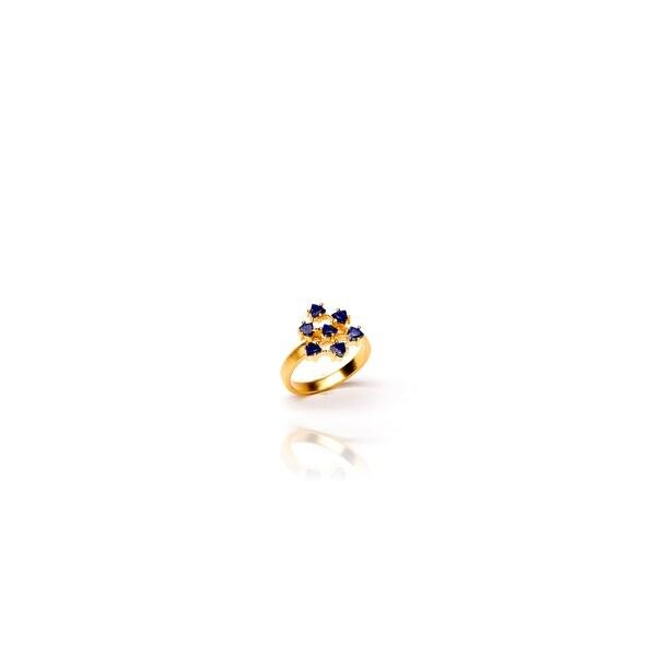 Flower Child Ring in Lapiz- Size 7