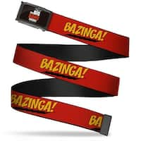 The Big Bang Theory Fcg Black White Red Chrome Bazinga! Red Gold Black Web Belt
