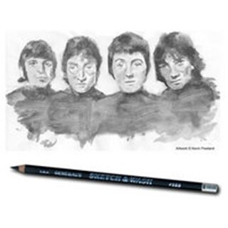 General Pencil 588 Sketch And Wash Pencils, Pack 12