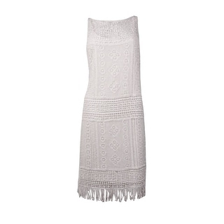 Lauren Ralph Lauren Women's Sleeveless Crochet Dress (M, Pearl) - m