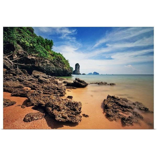 """Rock formations of Rai Lay beach"" Poster Print"