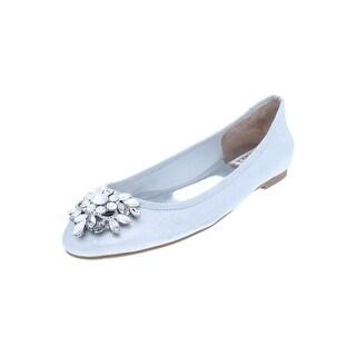 Badgley Mischka Womens Bianca Ballet Flats Suede Embellished - 6.5 medium (b,m)