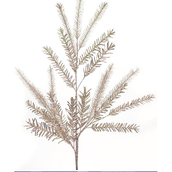"Club Pack of 12 Decorative Winter Glittered Indoor Outdoor Christmas Pine Spray 38""H"