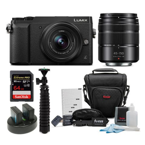 Panasonic DMC-GX85WK Camera with 12-32mm and 45-150mm Lens Bundle
