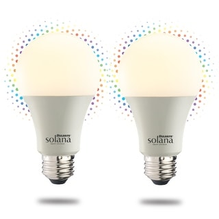 Link to Bulbrite Solana Smart LED A19 60W Equivalent Color Changing WIFI Light Bulb, Frost, 2PK - 2200K-6500K / Multi-Color Similar Items in Light Bulbs