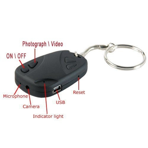 Spytec High Resolution Video Camera Keychain With Battery Life Of 45 Minutes