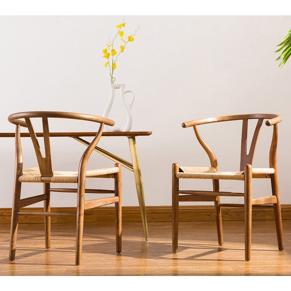 Porthos Home Qirin Wood Dining Chair, Kraft Rope And Beech Wood. Opens flyout.