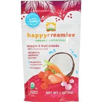 Happy Family - Organic Snacks - Strawberry And Raspberry ( 8 - 1 OZ)