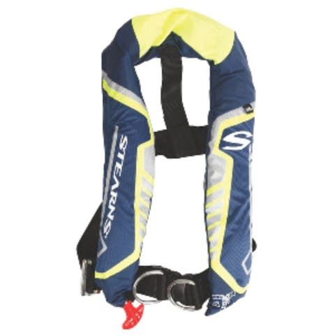"22"" Blue and Yellow Automatic / Manual Inflatable Life Vest"