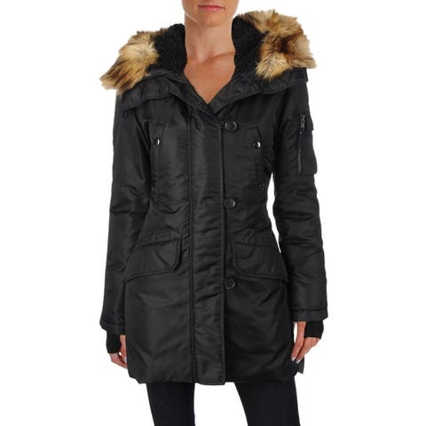 Aqua Womens Iceberg Parka Coat Winter Down
