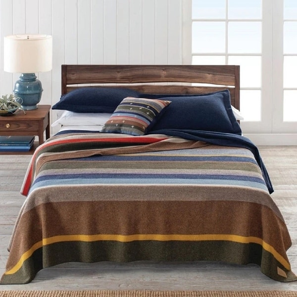 Pendleton Bridger Stripe Twin Blanket. Opens flyout.