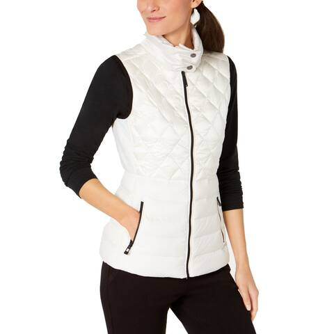 Calvin Klein Performance Women's Quilted Down Vest, White (XS) - X-Small