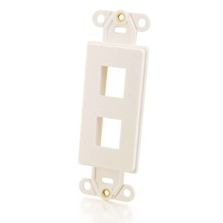 C2g - Decorative 2-Port Multimedia Keystone Insert - White