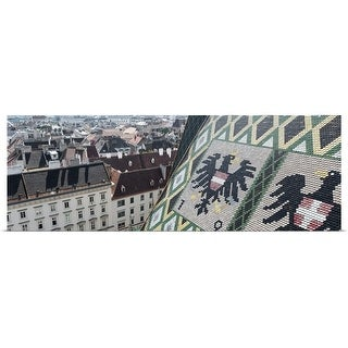 """""""City viewed from a cathedral St. Stephens Cathedral Vienna Austria"""" Poster Print"""