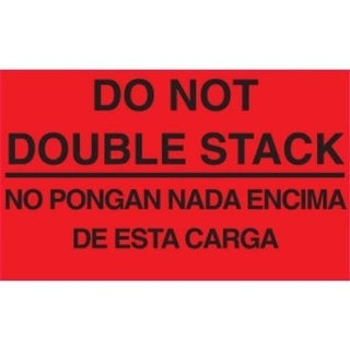 5 in. x 3 in. Do Not Double Stack No Pongan Nada Encima De Esta