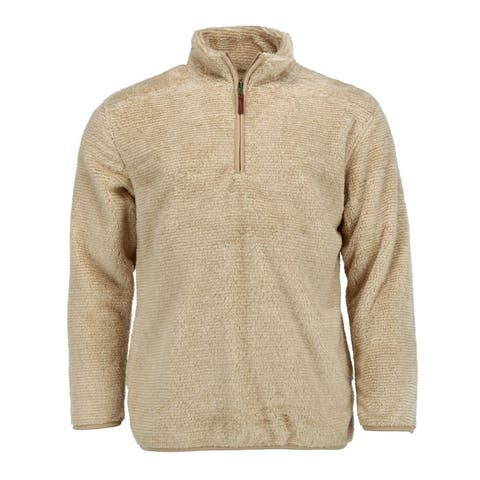 Boxercraft Men's Fuzzy Fleece Quarter Zip Pullover
