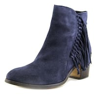 Kenneth Cole Reaction Rotini Women  Round Toe Suede Blue Ankle Boot