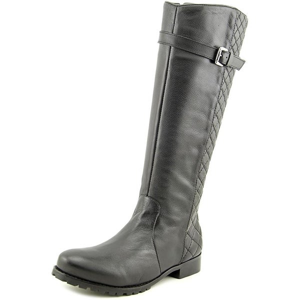 Matisse Coco Women Round Toe Leather Black Knee High Boot