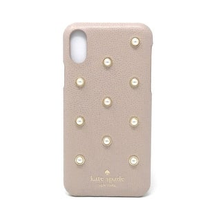 Kate Spade New York Pearl Applique iPhone X / iPhone Xs Snap Case, Warm Beige
