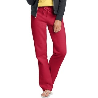 Hanes EcoSmart® Cotton-Rich Women's Drawstring Sweatpants - Size - M - Color - Deep Red