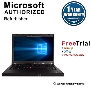 "Refurbished Lenovo ThinkPad T400 14.1"" Laptop Intel Core 2 Duo P8400 2.26G 4G DDR3 160G DVDRW Win 10 Pro 64 1 Year Warranty"