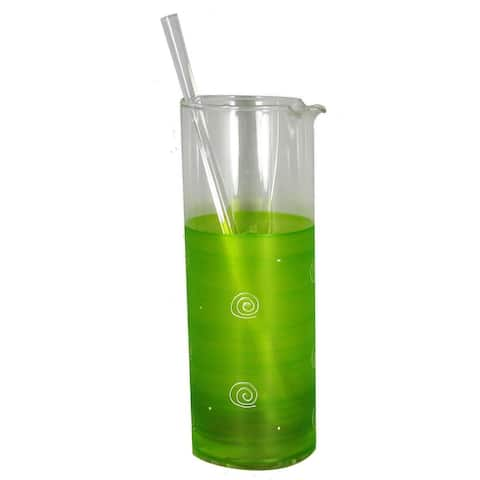 Light Green & White Martini Pitcher with Stirring Rod - 40 Ounces