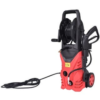 Costway 2030PSI Electric Pressure Washer Cleaner 1.7 GPM 1800W with Hose Reel Red|https://ak1.ostkcdn.com/images/products/is/images/direct/0c896185cd5f871cc10a40f38010c75f984e2736/Costway-2030PSI-Electric-Pressure-Washer-Cleaner-1.7-GPM-1800W-with-Hose-Reel-Red.jpg?impolicy=medium