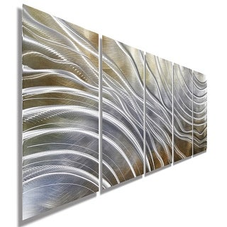 Statements2000 Gold & Silver Modern Contemporary Metal Wall Art Sculpture by Jon Allen - Glacial Rift