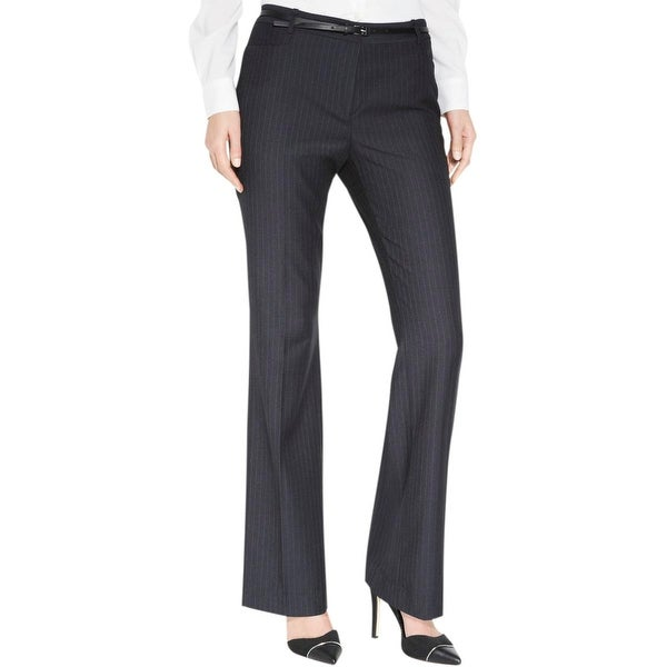 Calvin Klein Womens Petites Dress Pants Pinstripe Modern fit