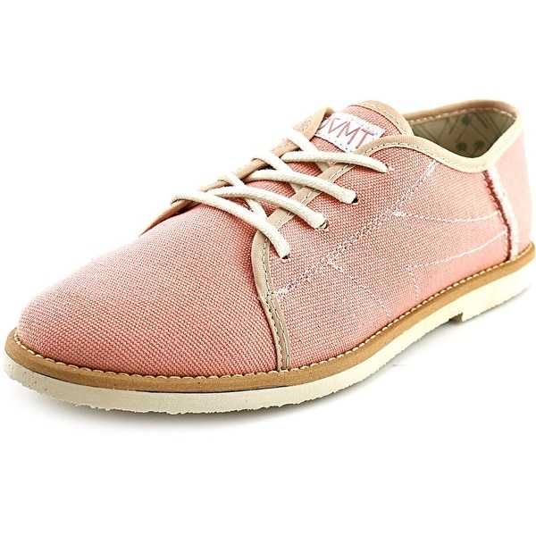 Movmt Le Fronck Men  Round Toe Canvas Pink Oxford
