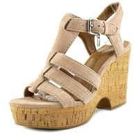 Coach Womens Kennedy Leather Open Toe Casual Platform Sandals