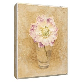 "PTM Images 9-154584  PTM Canvas Collection 10"" x 8"" - ""Scabiosa Blossom in Glass"" Giclee Flowers Art Print on Canvas"